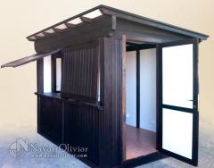 Caseta modular transportable para kiosko de prensa