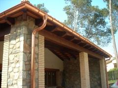 Canalon de cobre natural