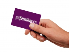 tarjeta visita web