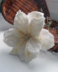 Flor artificial de lana para vestido o chaqueta