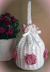 Bolso - saquito para vestido blanco o rosa