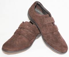 Zapato hush puppies, de tipo corte ingles y atado con velcro