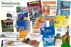 Dise�o de todo tipo de folleto, cat�logo, prensa, mem�rias, tarifas, etc.