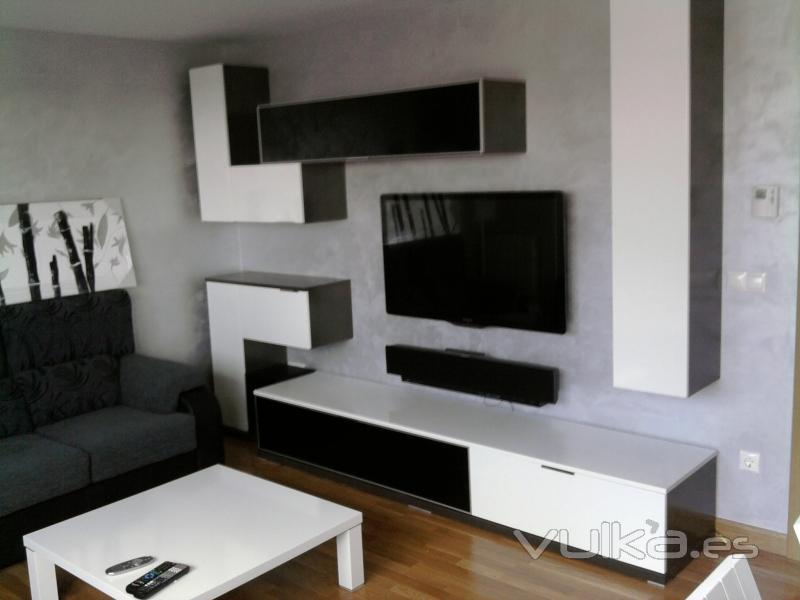 Foto modernos salones for Mobiliario de salon moderno