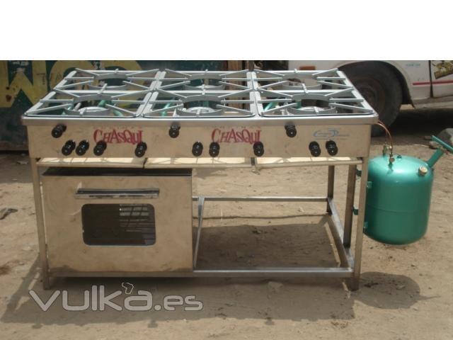 Foto cocina a gas de petroleo diesel de 06 hornillas con for Cocina 06 hornillas