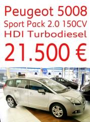 Peugeot 5008 sport pack de abril del 2010 km 21.718 seminuevo climatizador elevalinas cierres etc