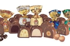 Bombones surtidos el patriarca. 6 variedades en varios formatos.