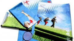 Digital printed microfiber towel /  toalla microfibra estampaci�n digital