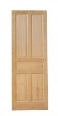 Puerta de madera de pino modelo 5 paneles.