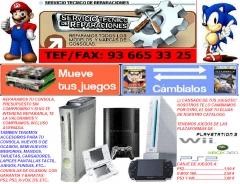 Reparacion de consolas de videojuegos
