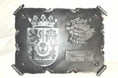 Pergamino en forja ref.12027 escudo de extremadura  medidas: 37x4x29