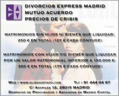 Abogado Procurador Divorcio Mutuo Acuerdo Madrid capital