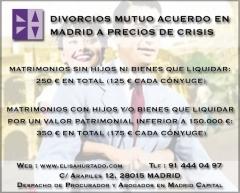 Abogado procurador madrid divorcio Mutuo Acuerdo