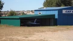 Hangar de Aeroesport en el Campo de Vuelo de MOià - El Prat