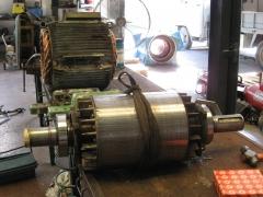 Equilibrado y cambio de rodamientos a inducido motor