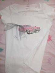 Camiseta hecha a mano, pink cadillac