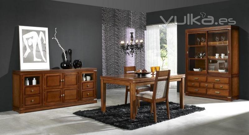 Foto muebles de comedor clasico for Muebles compactos comedor