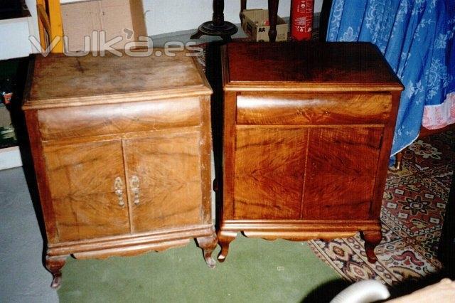 Foto mesitas de noche despu s de la restauraci n - Restauradores de muebles ...