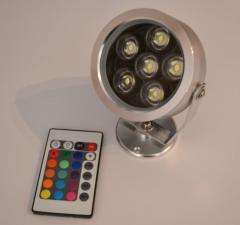 Foco led de decoracion mando a distancia en aluminio 6w 560 lumens