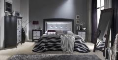 Dormitorio modelo romantic de elizana plata y negro