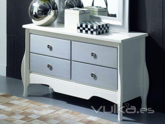 Muebles blanco plata for Eden del mueble