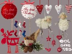 Colgantes para tu abeto de navidad en artico, resistentes a los m�s peque�os de la casa!