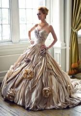 Cautivador vestido de novia linea princesa
