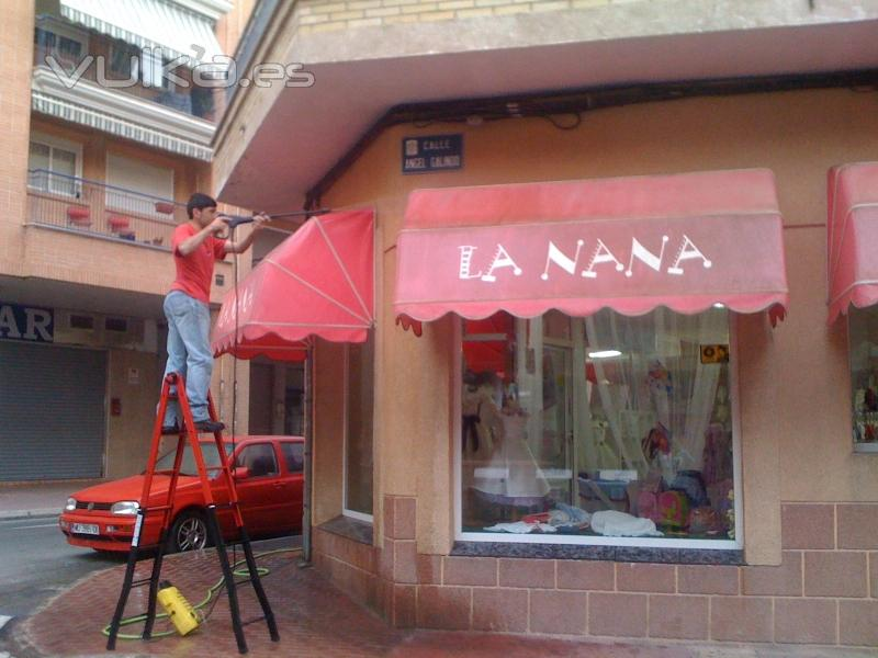 Limpiezas rayba for Limpieza de toldos