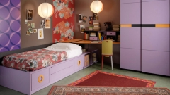 Muebles juveniles de color lila del catalogo aire