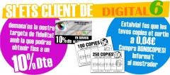 Copias y servicios mas baratos para clientes Digital6, pidelo !!