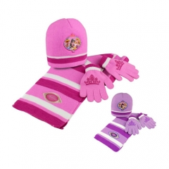 Set princesas:gorro, bufanda y guantes. producto licenciado. pack 24 unidades. ref. born�li15