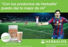 Leo messi recomienda el uso de productos herbalife