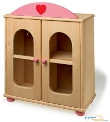armario de mu�ecas de madera, juguete educativo y creativo infantil