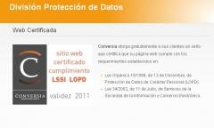 Sello que certifica que una página web cumple con los requerimientos de la lopd y lssi-ce.