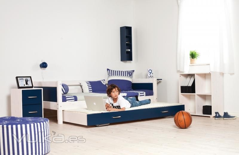 Foto camas nido camas ni os habitaciones juveniles flexa - Habitaciones infantiles cama nido ...