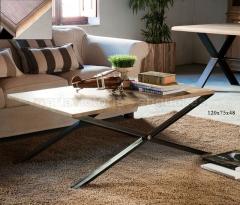 Mesa de centro madera y forja