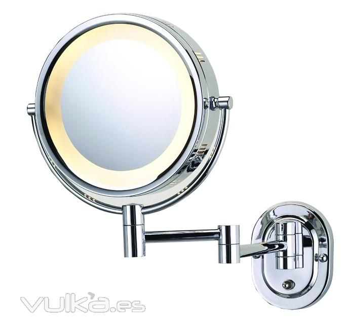 foto espejo de aumento con luz para pared