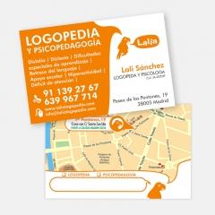 Tarjetas de visita para lalia logopedia
