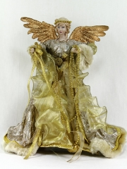 Angeles de navidad. angel tela navidad oro oasisdecor.com