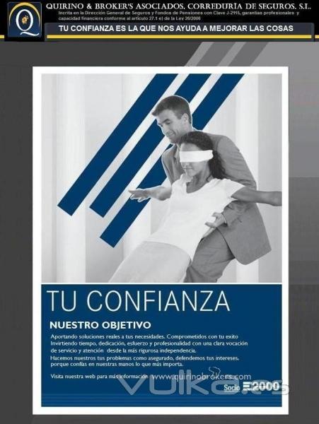 QUIRINO & BROKERS - Tu confianza es nuestro objetivo. Un buen mediador de seguros y  confía en el.