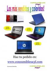 Los portátiles y netbooks más vendidos y coloridos de Consumibles A3F, www.consumiblesa3f.com