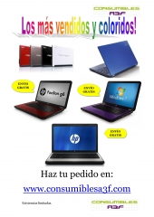 Los port�tiles y netbooks m�s vendidos y coloridos de consumibles a3f, www.consumiblesa3f.com