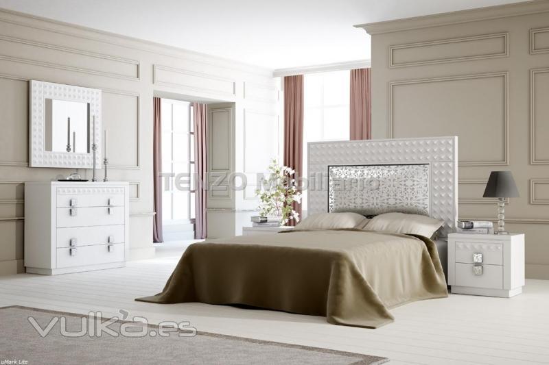 Tenzo mobiliario for Dormitorios modernos en blanco y plata
