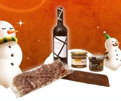 Cesta tradición - navidad 2011 con productos delicatessen