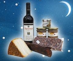Navidades 2011 cesta del campo con productos gourmet
