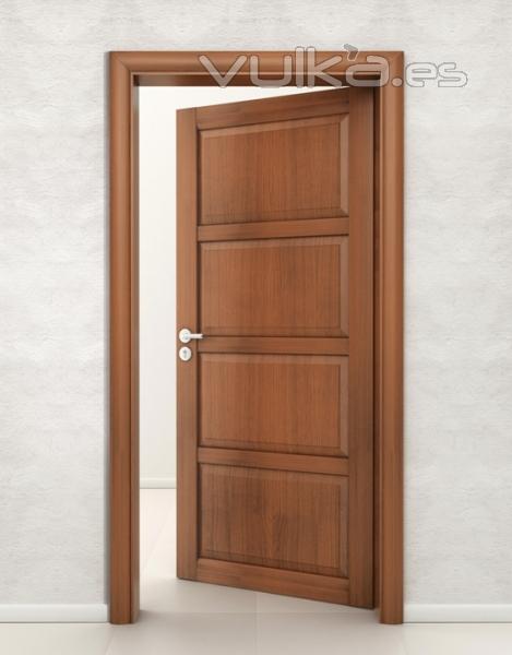 Foto puertas de madera for Modelo de puertas para habitaciones modernas
