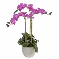 Plantas artificiales. planta orquidea artificial ramas malva 75 en lallimona.com
