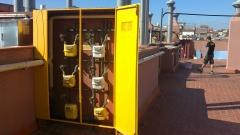 Bateria de contadores de gas
