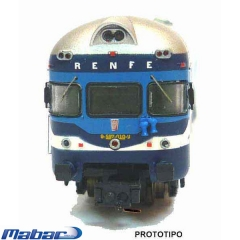 Automotor 597 ter azul, matr�cula 9710, frontal letras blancas