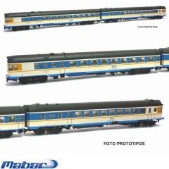 Automotor 597 ter blanco/azul, matrícula 9759 sonido locksound